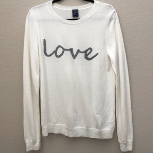 "Gap ""LOVE"" graphic Sweater"